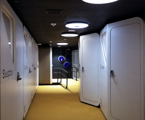 How a New American Capsule Hotel Compares to Japan's Famous Sleeping Pods Washington, D.C.