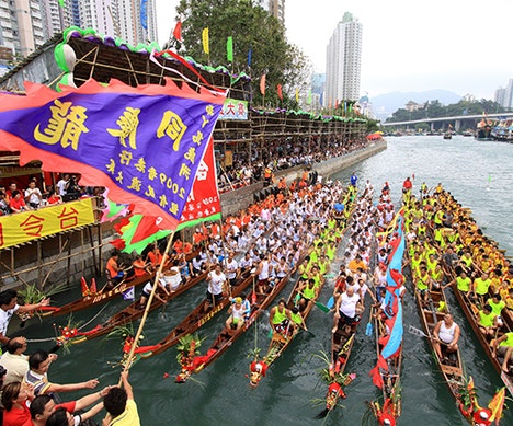 Race in a Legit Dragon Boat in Hong Kong   Hong Kong
