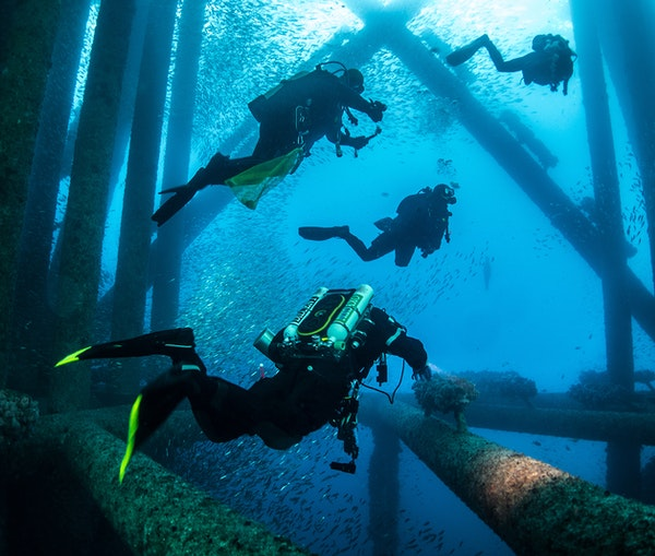 Some of the World's Best New Dive Spots Are Under Oil Rigs