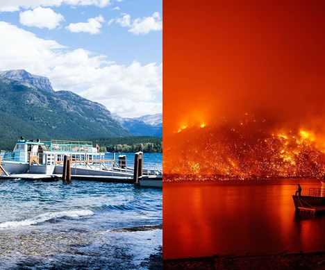 Wildfire in Glacier National Park Closes Scenic Road, Destroys Historic Buildings  Montana