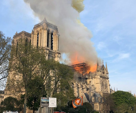 Massive Fire Breaks Out at Notre-Dame Cathedral in Paris Paris