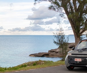 A Perfect Bermuda Day in an Electric Car