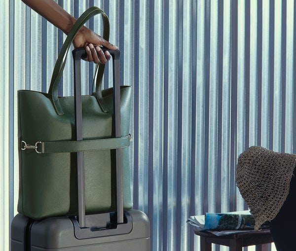 Away Just Launched a Leather Travel Tote Collection
