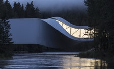 Norway's New Art Museum Doubles as a Twisting Bridge Above a River