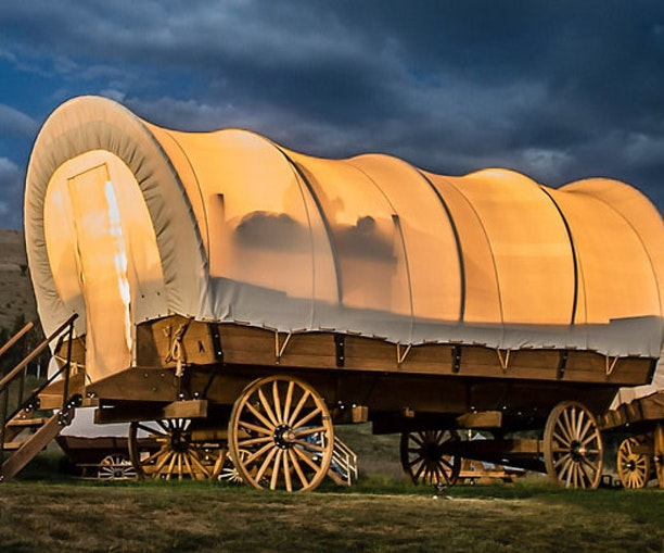 Glamp Like a Fancy Pioneer in One of Yosemite's New Covered Wagons