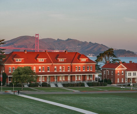 New Hotel in a Former Military Barracks Has a Breathtaking View of the Golden Gate Bridge San Francisco