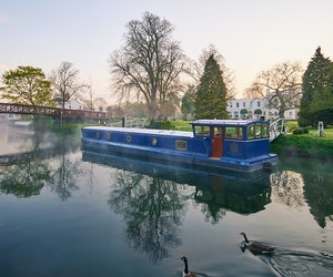 Inside Monkey Island Estate's Floating Spa on the River Thames
