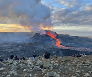 What It's Like to Hike to See Iceland's Erupting Volcano