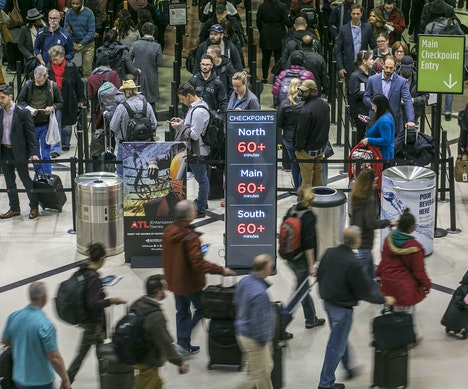 TSA Checkpoint Waiting Times Soar as Staffing Shortages Spread Atlanta