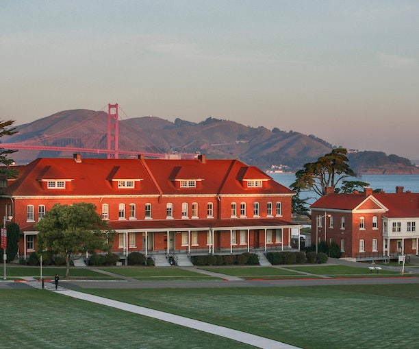 New Hotel in a Former Military Barracks Has a Breathtaking View of the Golden Gate Bridge