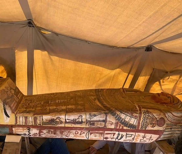 Archaeologists Discover 27 Ancient Coffins at Egyptian Pyramid