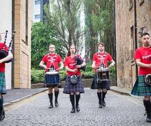 Despite COVID, the World's Largest Bagpiping Festival Goes On