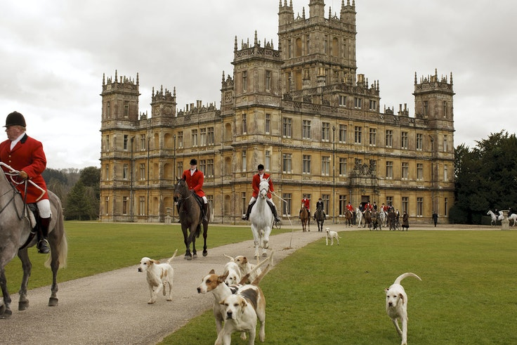 """The award-winning """"Downton Abbey"""" television series follows the fictional lives of an aristocratic family and their domestic workers on a great English estate."""