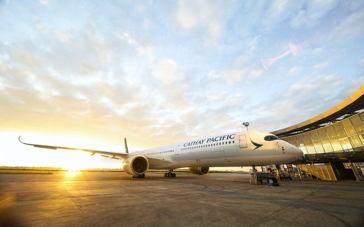 The Airbus A350-1000 is Cathay Pacific's newest plane.