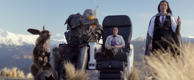 """""""Lord of the Rings"""" scenes and characters played a starring role in this Air New Zealand safety video."""