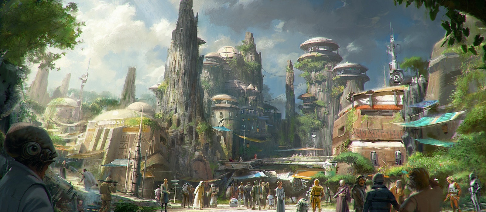 """The soon-to-open """"Star Wars"""" lands at Disneyland and Walt Disney World will immerse visitors in the fictional world of the planet Batuu."""