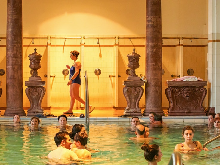 The cultural experience of visiting Budapest's grand spas, like Szechenyi, should not be missed.