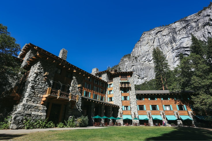 The historic Ahwahnee Hotel has been open since 1927.