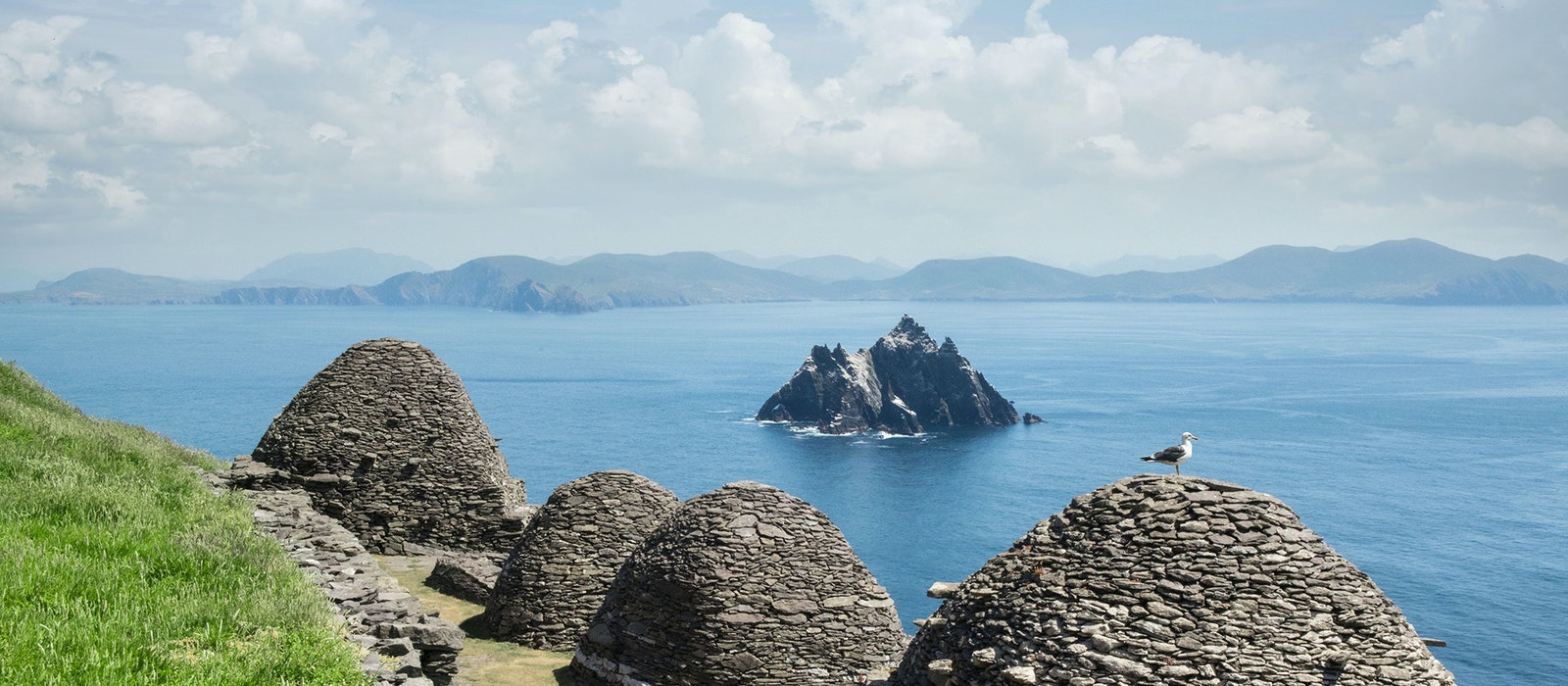 Two rocky islands off the coast of Ireland, called Skellig Michael and Small Skellig,are a UNESCO World Heritage Site.