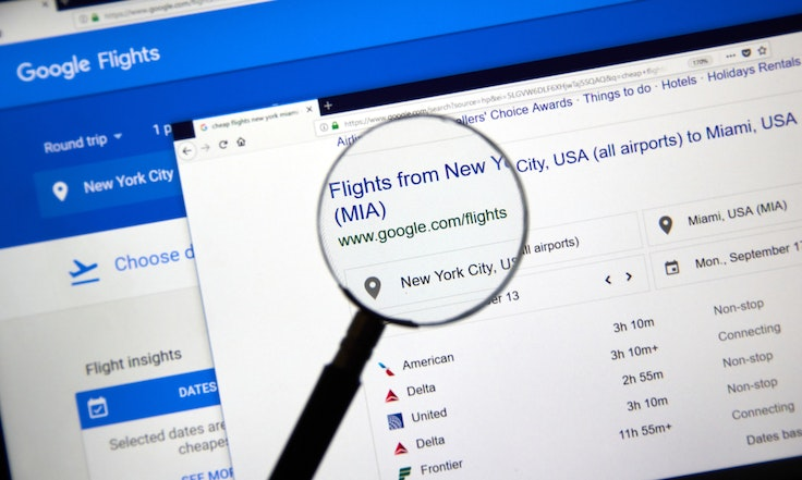 Google Flights is one of the best places to look online for airfare.