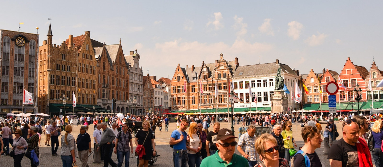 In 2018, a record 8.3 million tourists visited the medieval city of Bruges, Belgium.