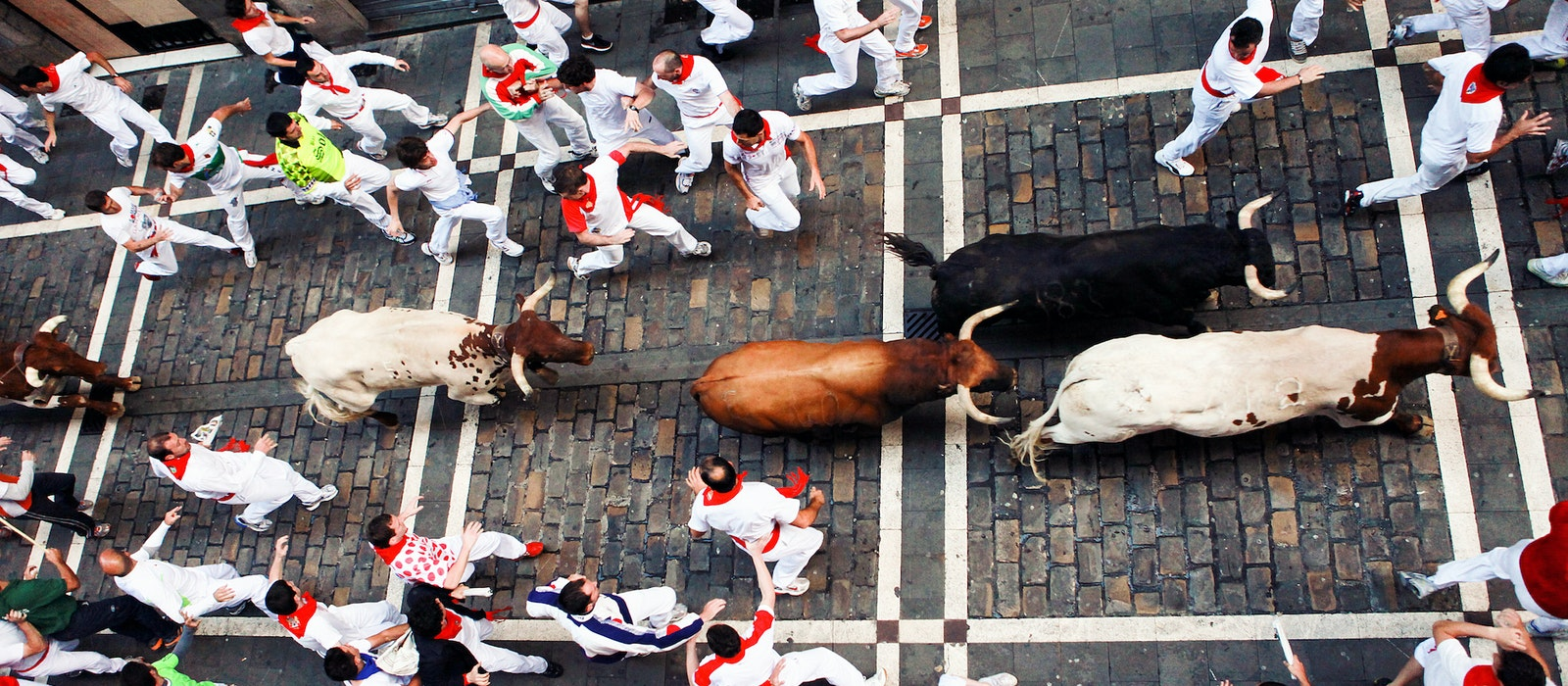 The Fiesta de San Fermín in Pamplona, Spain, is famous for its controversial bull-running tradition.
