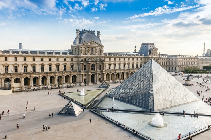 The Museé du Louvre is among the world's largest museums and one of the most popular tourist destinations in Paris.