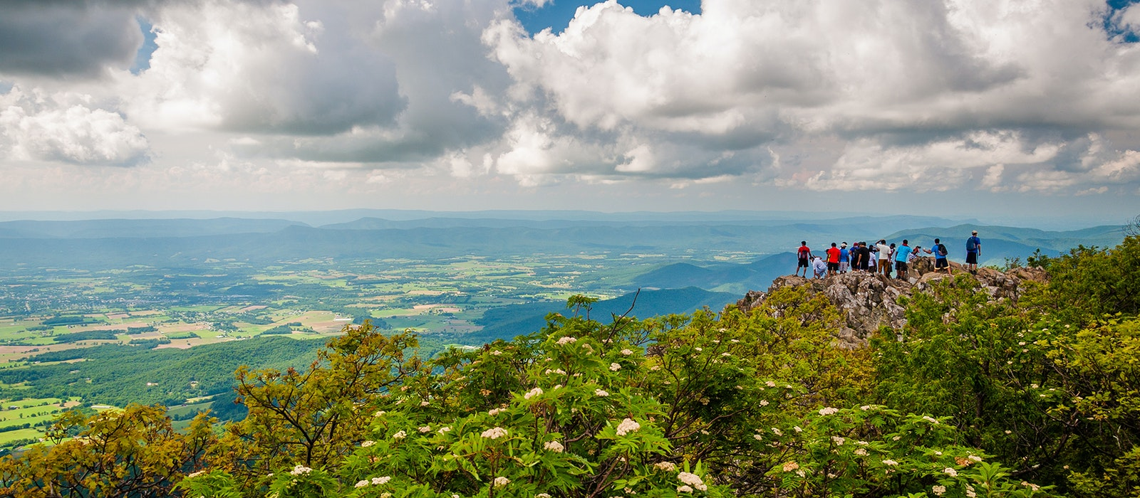 The Appalachian Mountains run from the southern edge of Shenandoah National Park to the Great Smoky Mountains.