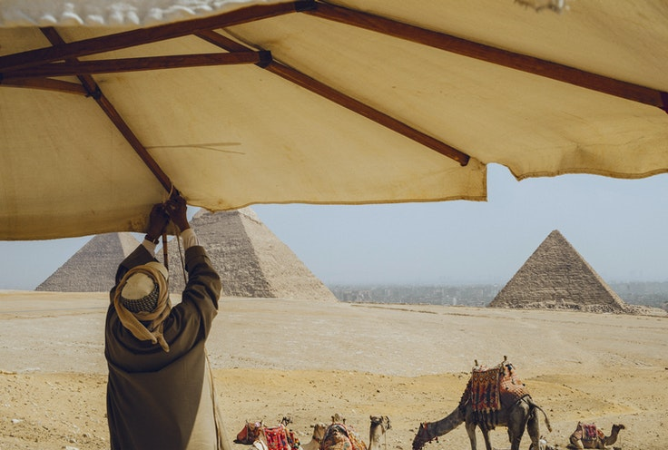 While tourism has been growing steadily in Egypt, travelers today will still find relatively few crowds at such iconic sites as the pyramids of Giza outside Cairo.