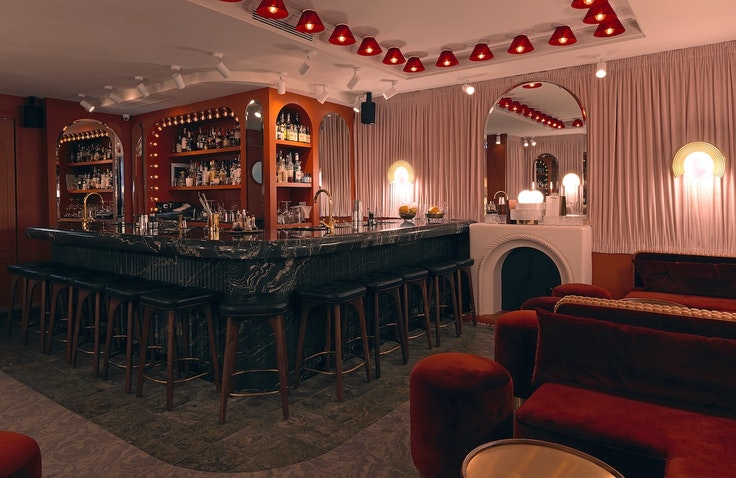 The bar at the recently renovated Renaissance Paris Vendome Hotel reflects the new era of Renaissance Hotels.