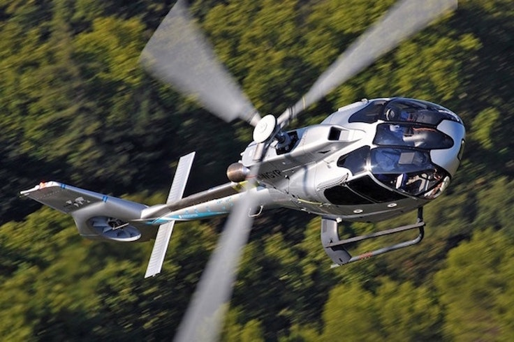 Uber teams with Airbus for helicopter transportation.