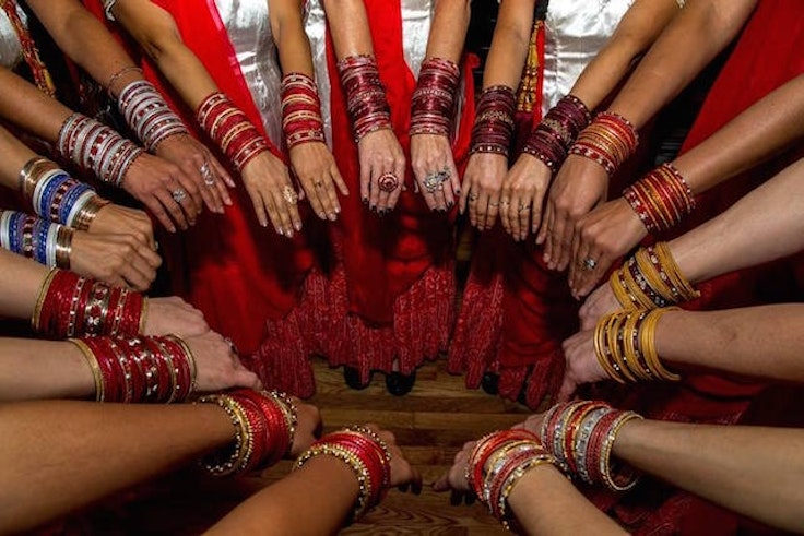 The colorful bangles at House of Bhangra