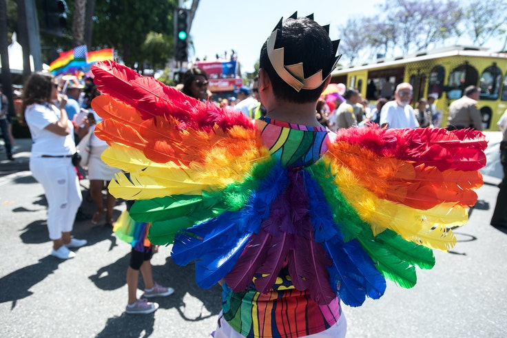 The LA Pride Festival and Parade take place every June in West Hollywood.