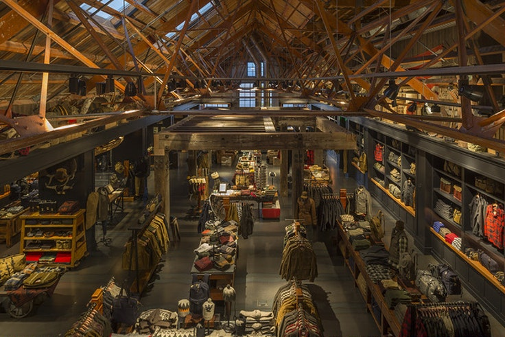 Filson's handsome flagship store in Seattle