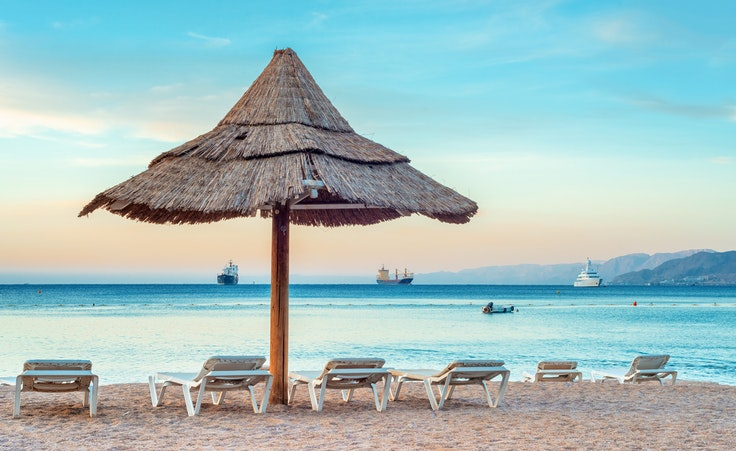 Eilat, a southern Israeli Red Sea beach town, is known for its calm waters.