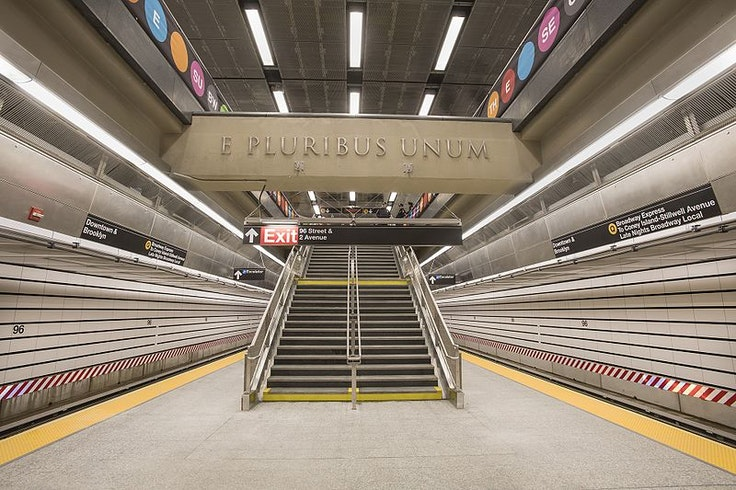 New York's Second Avenue line's 96th Street station.