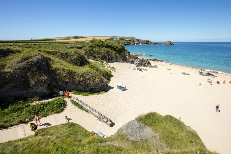 A beach scene in Padstow, on Cornwall's north coast