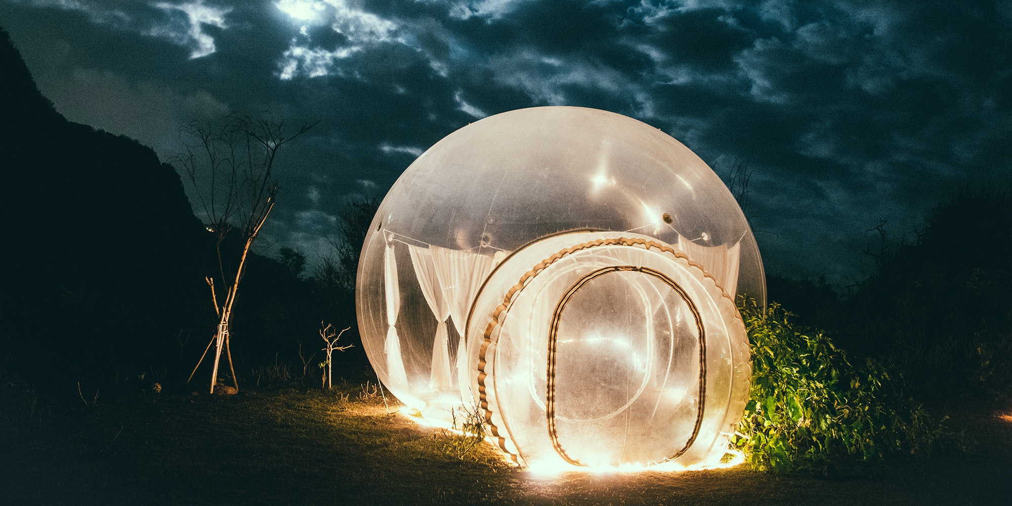 What It's Actually Like to Sleep in a Bubble Hotel