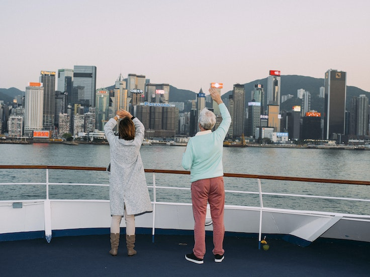 Seeing Asia from aboard a cruise ship is a relaxed affair.