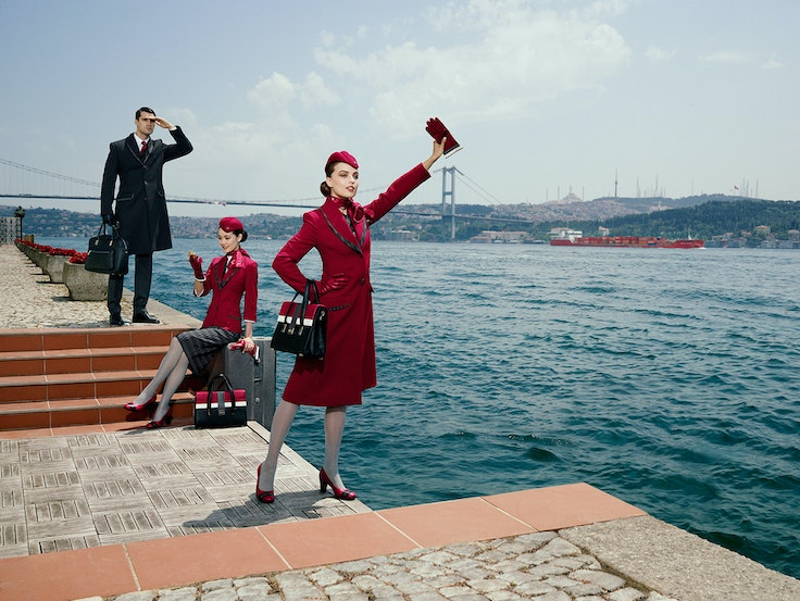 Milanese haute couturier Ettore Bilotta designed a new collection of uniforms for Turkish Airlines last year.