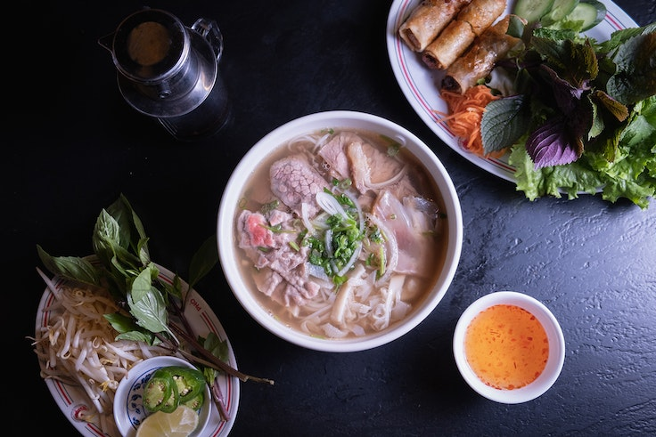 The pho at Pho 79 in Orange County, California