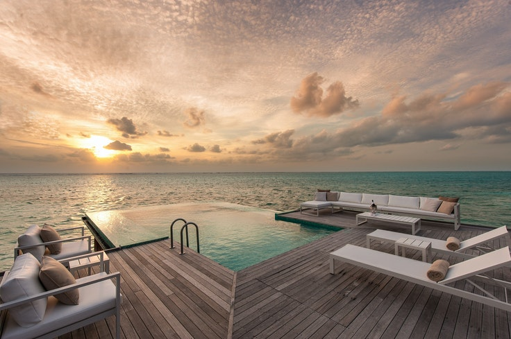 Score a stay at the Conrad Maldives Rangali Island with your Hilton Honors points.