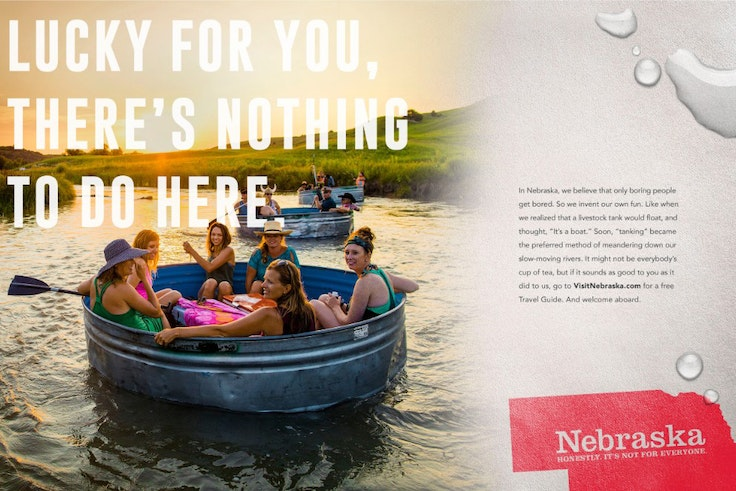 Nebraska's new tourism campaign relies on self-deprecating humor to attract visitors.