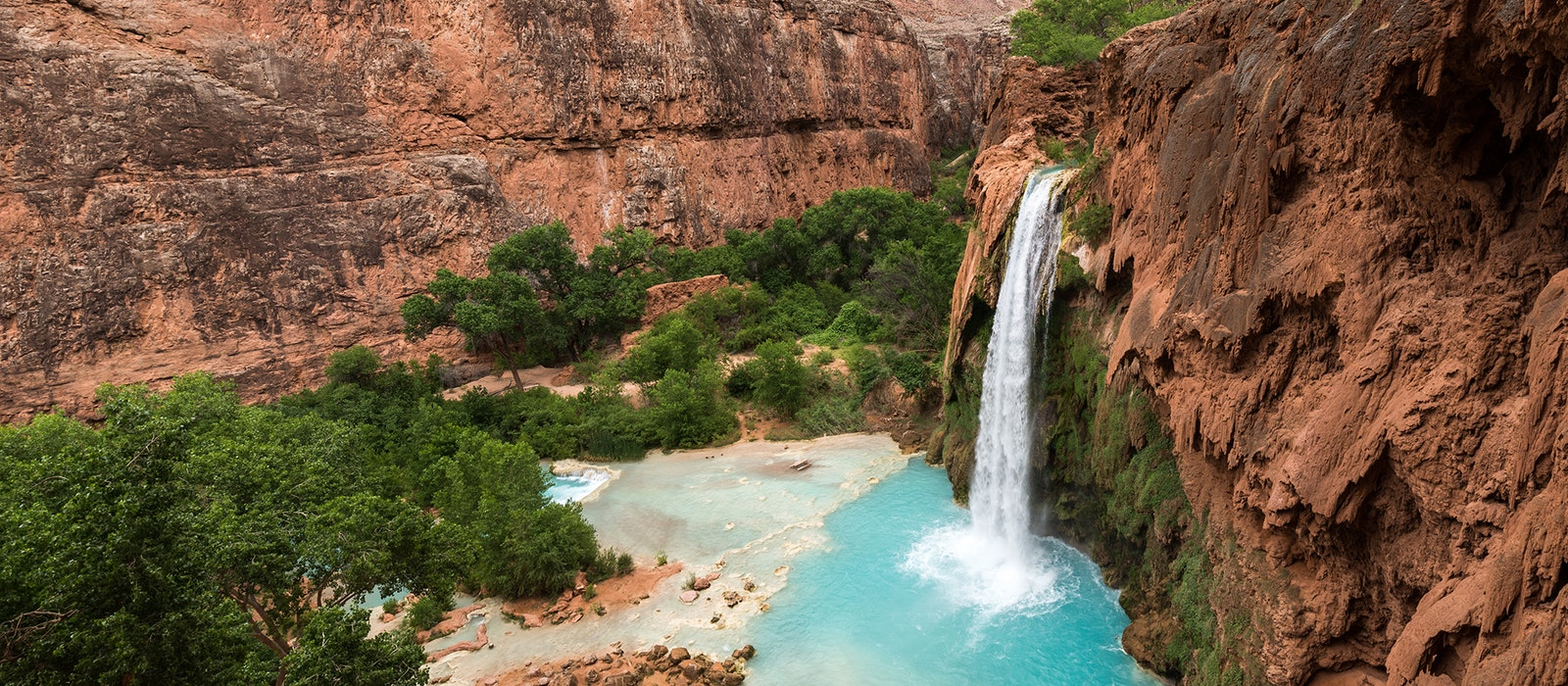 The hardest part of the Havasu Falls hike in the Grand Canyon is winning the campground permit lottery.
