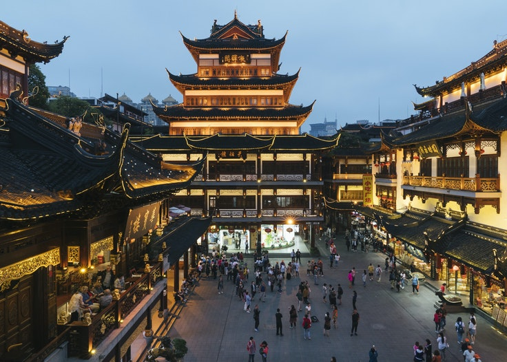 In Shanghai's Old City, find a vibrant mix of modern and ancient.