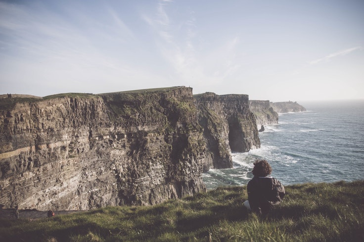 This could be you, reading course material at the Cliffs of Moher.