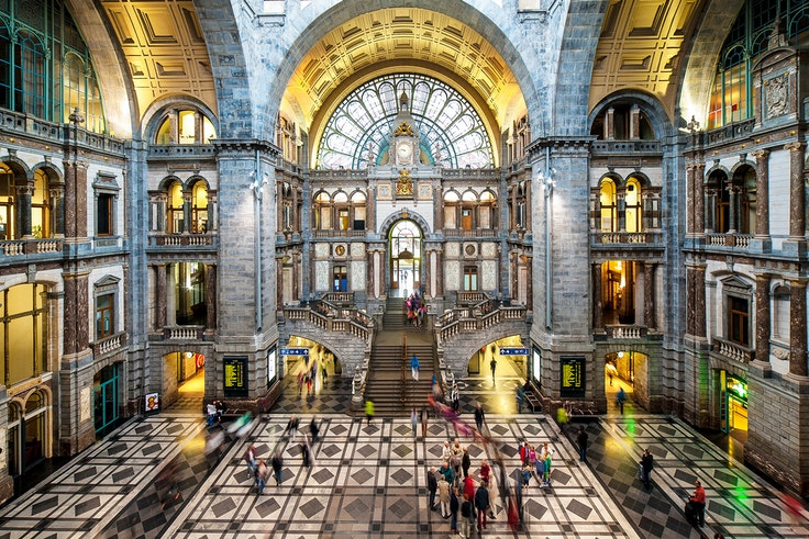 Like Antwerpen-Centraal, many of Europe's railway stations are far more than places to catch a train.