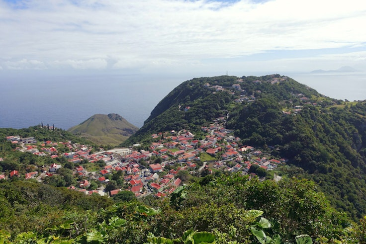 Saba's terrain is steep and lush—with no true beaches to speak of.