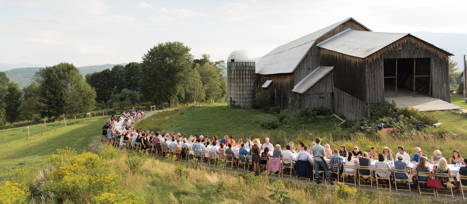 Outstanding in the Field farm dinners have taken place all over the world, including Vermont's Ploughgate Creamery (pictured here).