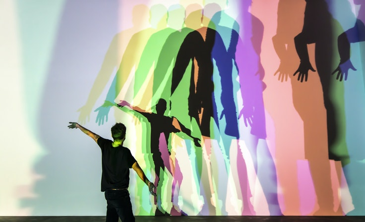 """Olafur Eliasson's """"Your Uncertain Shadow"""" is on display in London this summer."""